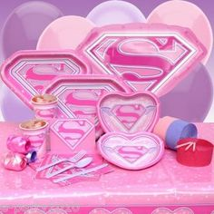 SUPER GIRL Birthday Party Supplies ~ Create Your Set w/ FREE Shipping