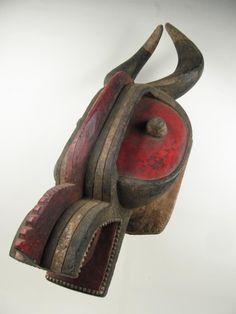 Zoomorphic African mask via Gotham Gallery of African Art