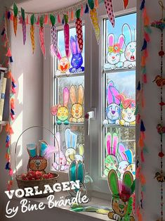 Craft template for naughty rabbit faces. Ideal for crafting with children as decoration for the Easter basket, the windows or just the whole Wohnu … - New Deko Sites Hobbies And Crafts, Diy And Crafts, Crafts For Kids, Easter Art, Easter Crafts, Articles For Kids, Preschool Decor, Window Mural, Decoration Gris