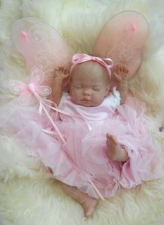 reborn baby with butterfly wings