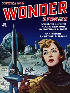 """Thrilling Wonder Stories, August 19XX - """"Earthlight"""" - Cover by Earle Bergey - 8689346523_e05e6a252f_o.jpg (JPEG Image, 3600×4800 pixels) - Scaled (12%)"""