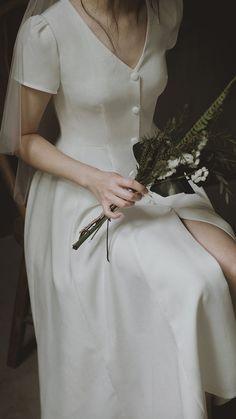 Civil Wedding Dresses, Dream Wedding Dresses, Bridal Dresses, Minimalist Wedding Dresses, Elegant Wedding Dress, Pretty Dresses, Designer Dresses, Marie, The Dress