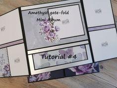 Mini Album Tutorial, Book Making, Mini Albums, Gate, Card Stock, Decorative Boxes, The Creator, Amethyst, Mini Scrapbooks