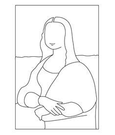 Contest Entry for Dibujo vectorial simplificado de la Gioconda Minimalist Drawing, Minimalist Art, Line Drawing, Drawing Sketches, Abstract Face Art, Outline Art, Embroidery Art, Aesthetic Art, Pencil Art