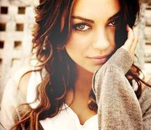 Mila Kunis, apparently my look alike. I'm not complaining.. She's hot another idol <3