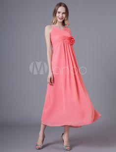 2afdf96afeb9 Bridesmaid Dresses Short Chiffon Flowers Pleated Straps Wedding Party Dress  Short Bridesmaid Dresses, Short Dresses