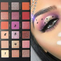 Eyeshadow Looks For Hazel Eyes Step By Step whether Makeup Kit Bag Price those M… – Make Up Time Huda Beauty Eyeshadow, Huda Beauty Makeup, Beauty Make-up, Eye Makeup Tips, Smokey Eye Makeup, Crazy Eyeshadow, Eyeshadow Tips, Eyeshadow Tutorials, Metallic Eyeshadow