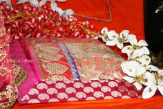 Trousseau Packing At Wrap A Smile - By Shreya Ahuja !   Brocade customized Trays for Sarees/Suits/Lehengas/Anarkalis !  #HotPink #Brocade #Trays #pretty #Indian #Trousseau #Customized #Gift #ideas #chic #flowers #Gold #White #Red #colors #Bright #For #beautiful #indianBrides #Shine #Bling #Itsyourwedding #Shoutout #smile #Blush