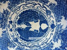 1500s Extremely Rare Chinese Blue White Porcelain Plate Ming Dynasty China Carp Bowls photo