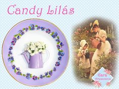 Prato Decorativo Candy Lilás | GARA Artesanatos | Elo7