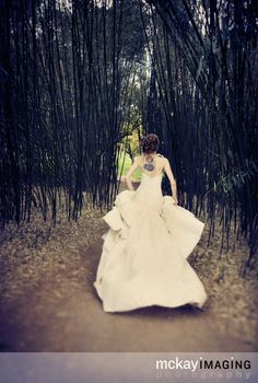 Bridal Portraits. The running Bride...