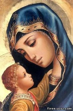 Our Lady with the Child Jesus Icon. Divine Mother, Blessed Mother Mary, Blessed Virgin Mary, Virgin Mary Art, Religious Pictures, Religious Icons, Religious Art, Mama Mary, Christus Tattoo