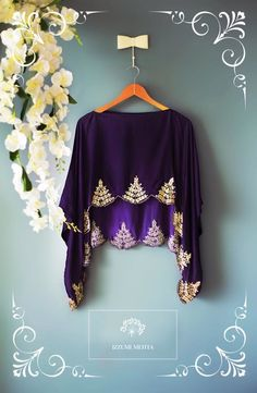cape blouse,purple cape