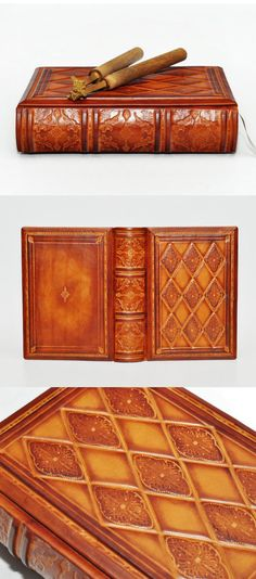 Antique leather journal medieval style 6x8 inch 15x20 by dragosh, $128.00