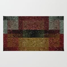 SOLD! Thank you!! Loony Linoleum Area & Throw Rug by David Manlove on Society6