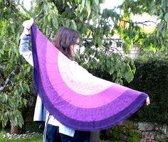 Ravelry: Allegra by Stefanie Bold - a half circle tunisian crochet shawl - FREE RAV!!!