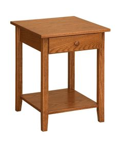 Amish Open Shaker End Table