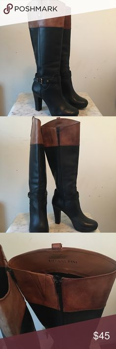Womens Gianni Bini Boots Genuine Leather trim boots in size 8.5M with 3.5in heel. Lightly used and still in really good condition. Has little to no scratches. Basically new. Gianni Bini Shoes Heeled Boots