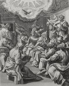 Luke in the Phillip Medhurst Collection 574 Pentecost Acts 2:1-4 De Vos on Flickr. A print from the Phillip Medhurst Collection of Bible illustrations, published by Revd. Philip De Vere at St....