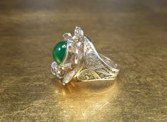 Filigree Ring Vintage Floral Ring by FashionablyTimeless on Etsy