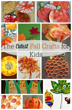 Adorable fall crafts for kids! These are the cutest autumn crafts, full of lovely playful and process art too. Ideas for preschoolers, toddlers, and big kids too.