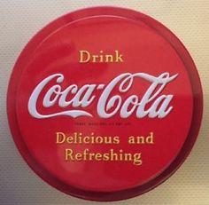 "Original Classic Coca Cola Plastic Fridge Magnet - 3"" Circle Red with White name #ebay #trinital #FridgeMagnet"