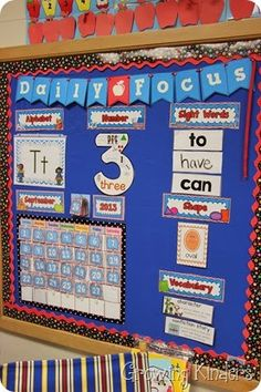 Math Focus Wall-Modified Calendar Wall