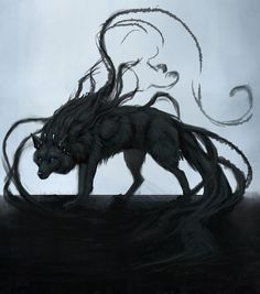 66 Ideas Drawing Anime Wolf Shadows For 2019 Dark Fantasy Art, Fantasy Wolf, Dark Art, Anime Wolf, Dark Creatures, Mythical Creatures Art, Anime Krieger, Shadow Wolf, Mystical Animals
