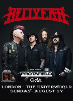 Hellyeah live at, On Sunday August 17, 2014 at 7:00 pm, ends Sunday August 17, 2014 at 11:00 pm. Hellyeah plus Protafield and Gravil live at The Underworld in Camden Town on 17th August 2014. Price: General Admission: £15.00, Artists: Hellyeah, Protafield, Gravil, Category: Live Music | Gig, url: Ticket: http://atnd.it/11720-0