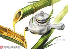 노원미술학원 도자기(찻주전자), 대나무 기초디자인 연출 : 네이버 블로그