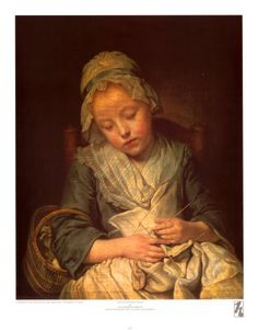 Greuze, La Tricoteuse Endormie