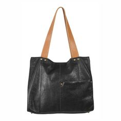 Ellington Handbags | Valerie Washed Leather Tote Bag: Black