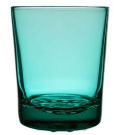 6 Green Whiskey Glasses on Knob Base, Vintage English, 1950s-60s