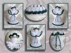 Piccoli Capricci Crochet Angels, Christmas Decorations, Knitting, Sew, Home, Holiday Ornaments, Amigurumi, Xmas, Needlepoint