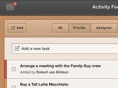 Beautiful Web App Orange UI