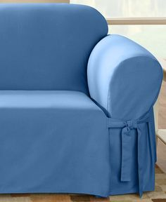 The simple sophistication of modern design is captured in these durable, pure cotton slipcovers. Made from dense cotton duck, they'll stand up to what life dishes out, and they'll get softer and more