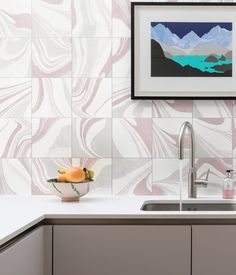 In keeping with the ongoing trend for marbling effects within interior surfaces, our new Inker porcelain tile offers instant impact in kitchens, bathrooms, hallways,. Porcelain Ceramics, Porcelain Tile, Splashback, Swirl Design, Decorative Tile, Commercial Interiors, Tiles, Flooring
