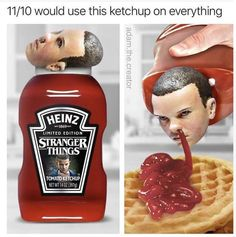 Stranger things is one of the funniest fiction television sitcoms that is popular among teens. Believe Me, its Memes are equally funny and hilarious. so Below are 47 Funny 'Stranger Things' Memes That A Die-Hard Fan Must Watch. Stranger Things Netflix, Stranger Things Have Happened, Stranger Things Funny, Stranger Things Theories, Stranger Quotes, Ketchup, Objet Wtf, Funny Images, Funny Pictures