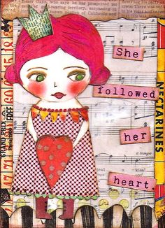 Cut and paste ATC traded to Jodie. Mixed Media Collage, Mixed Media Canvas, Collage Art, Kunstjournal Inspiration, Art Journal Inspiration, Mix Media, Paper Art, Paper Crafts, Collages