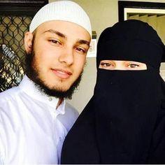 Image de beard, muslim, and niqab