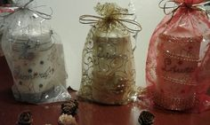 Confezione candele personalizzate a mano