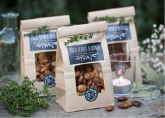 25 DIY Wedding Favors - EverythingEtsy.com walnuts instead of almonds?