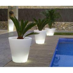 Vondom Llum Cono Round Flower Pot Planter with Self-Watering and Wheels