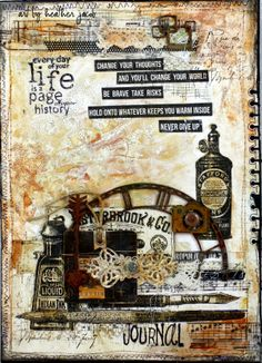 Heather Jacob as Art and Life with a journal page; May 2014