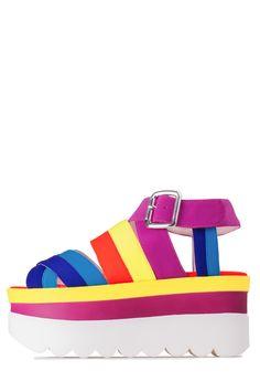 1466f13eacd Jeffrey Campbell Shoes POPO-2 in Fuchsia Yellow Combo. FlatsSandalsJeffrey  ...