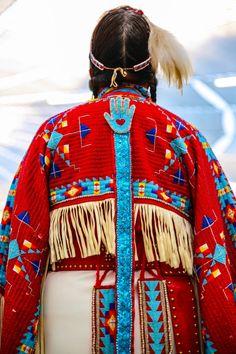Heart in hand.  [American Indian handcraft]