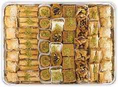 A look at Al Bohsali, Middle Eastern pastries such as bakalava, mamoul, knafeh in Beirut, Lebanon.