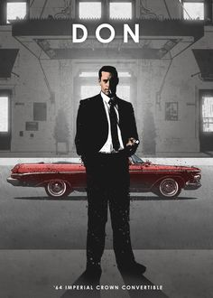 """Beautiful """"Don Draper"""" metal poster created by Eden Design. Cars Movie Characters, Movie Cars, Eden Design, Smokey And The Bandit, Imperial Crown, Don Draper, Car Posters, Movie Posters, The Expendables"""
