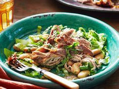Pulled Lamb with Butter Beans - A hearty winter meal rich in vegetables and spices.