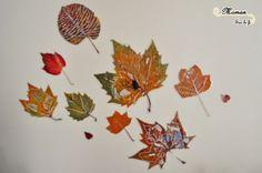 Activité Enfant - Automne - Arbre automnal et feuilles mortes - Dessiner sur des feuilles - feutre Giotto Decor Materials - Plastifier les feuilles pour une meilleure conservation - nature - activité créative manuelle - issu du blog maman sur le fil